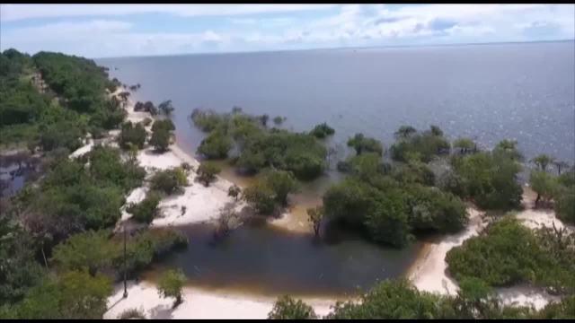 Conheça as belezas da praia de Iruçanga, em Belterra