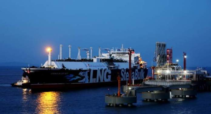 Liquefied natural gas transport vessel Stena Blue Sky