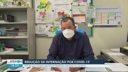 Amazonas apresenta redução de internações por Covid-19