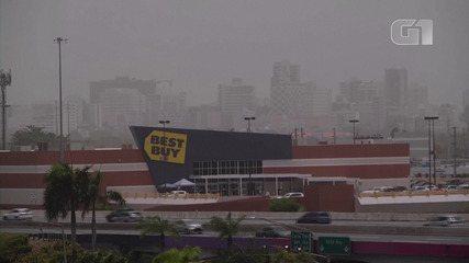 Grande nuvem de poeira do Saara atinge o Caribe e segue em direção aos Estados Unidos