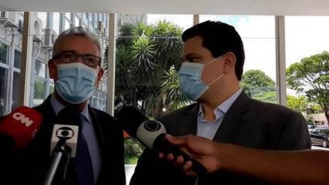 Davi Alcolumbre e Bento Albuquerque falam sobre apagão no Amapá