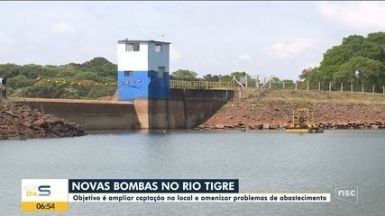 Novas bombas no Rio Tigre irá ajudar amenizar problemas no abastecimento