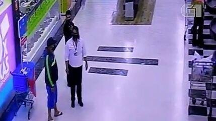 Veja imagens de João Beto dentro do supermercado de Porto Alegre