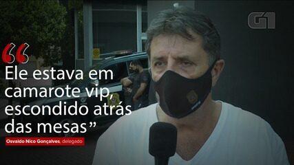 VÍDEO: Delegado diz que Gabigol tentou se esconder da polícia em cassino clandestino em SP