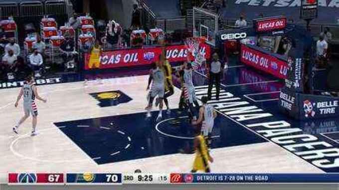 Oshae Brissett, do Indiana Pacers, faz enterrada na NBA