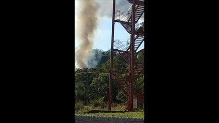 Vídeo mostra incêndio após queda de avião em MT