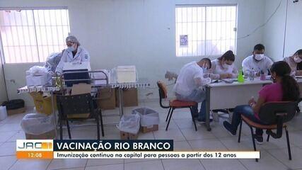 Rio Branco continua vacinando adolescentes de 12 anos ou mais