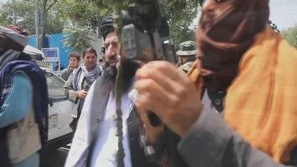 Taliban leader arrives in Kabul and delivers speech to militants