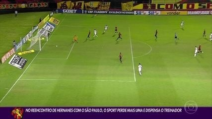 Sport concedes the goal at the beginning of the match and loses to São Paulo on Ilha 1-0