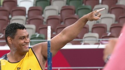 Wallace Santos scores 12.63 and sets the new world record in the Shot Put - Tokyo Paralympics