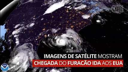 Satellite images show arrival of Hurricane Ida in the United States