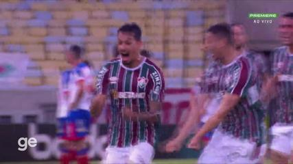 At 35 min of the 1st half - free-kick by Lucca do Fluminense against Bahia