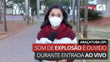 VIDEO: Explosion sound is recorded in Araçatuba, SP