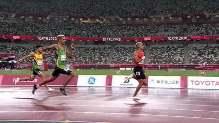 Thomaz Moraes is silver and Petrúcio Ferreira bronze in the 400m T47 - Tokyo Paralympics