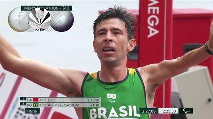 Alex Pires is silver in the men's marathon T46 - Tokyo 2020 Paralympics
