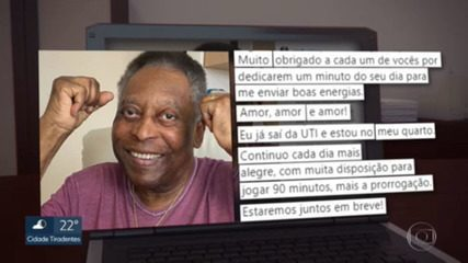 Pelé leaves the ICU and will continue his recovery in his room