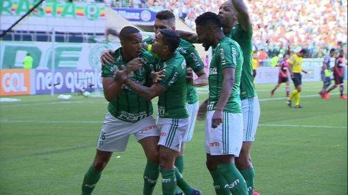 Os gols de Palmeiras 2 x 0 Flamengo pela 34ª rodada do Brasileirão