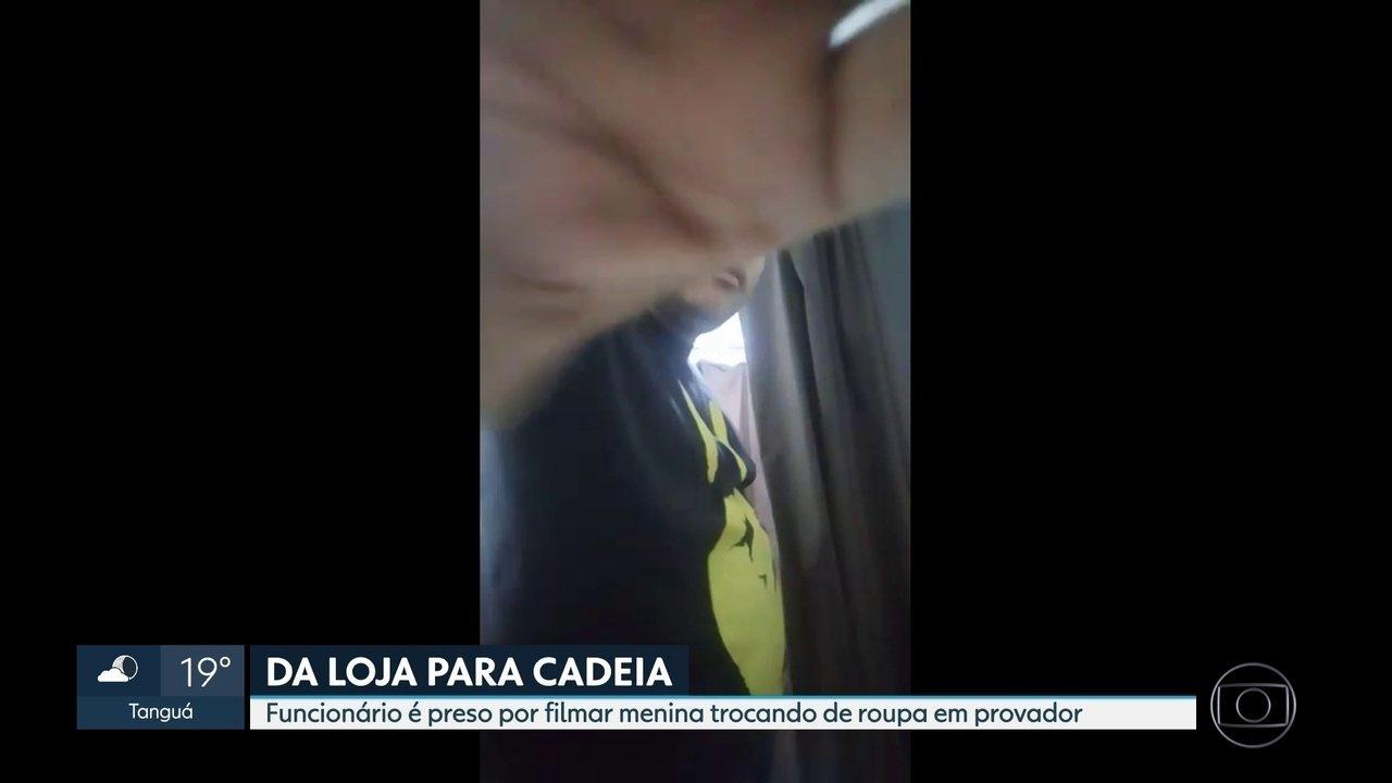 Funcionário é flagrado filmando adolescente no provador de uma loja de roupas