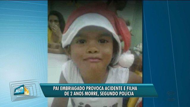 Pai embriagado capota carro e filha de 2 anos morre em Poço Dantas