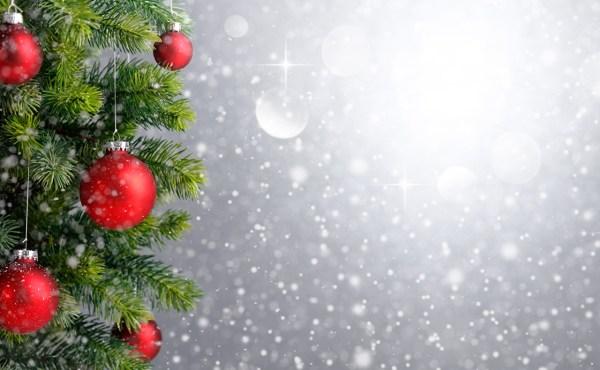 Картинка Рождество Шар ветка Шаблон поздравительной открытки