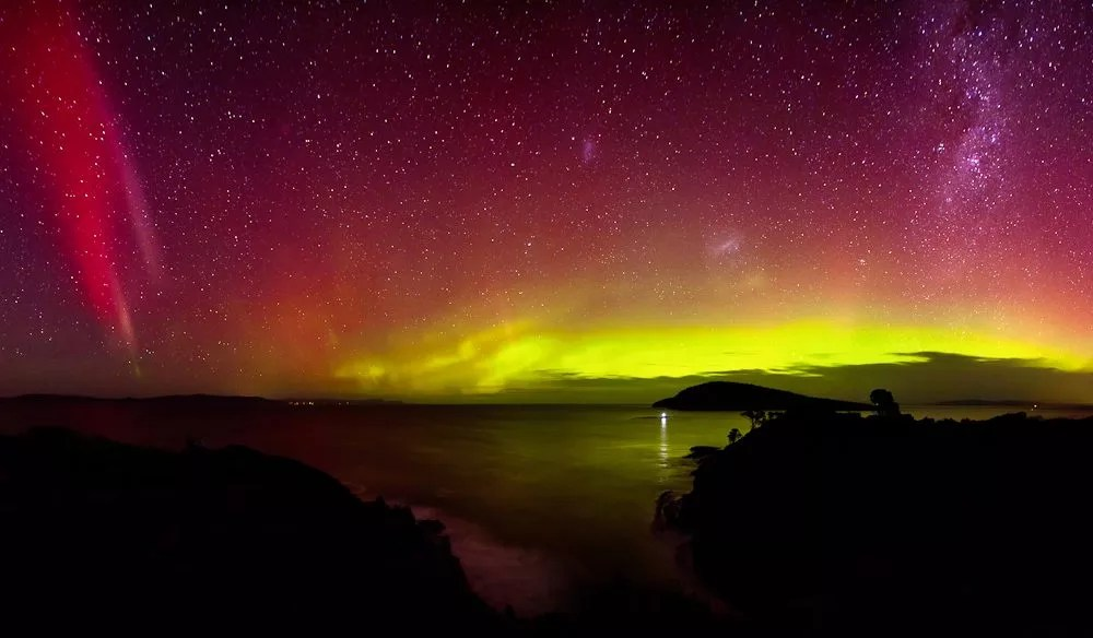 Image result for southern lights in tasmania