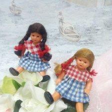 Две Дюймовочки с микро сестренкой / Винтажные куклы и ...