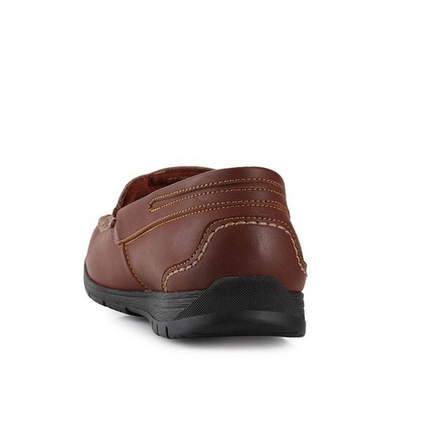 Sepatu Watchout Moccasins Slipon Loafer Brown Men Pria Original
