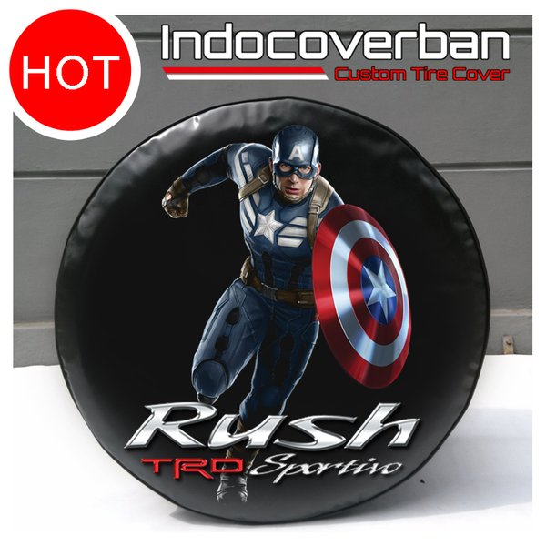 Cover Ban / Sarung Ban Serep Toyota Rush Captain America Winter Soldier