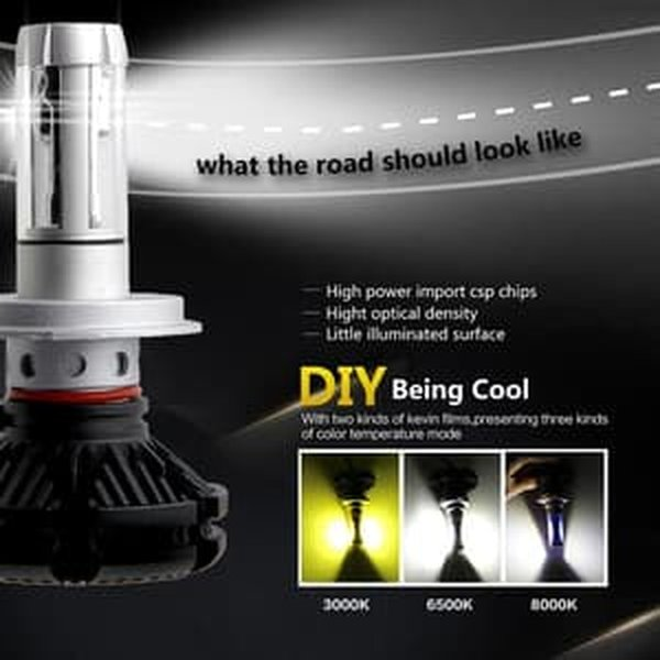 Lampu Mobil LED X3 H4 With ZES 2nd G Chipset Hi Lo Beam Premium