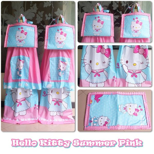 terbaru MUKENA ANAK HELLO KITTY SUMMER SIZE L