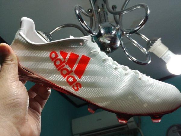 stok baru Sepatu Bola  Soccer Adidas Adizero F50 99 Gram White Solar Red  FG