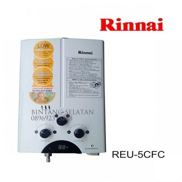new Pemanas Air Water Heater Rinnai 5t Gas REU 5CFU GARANSI RESMI