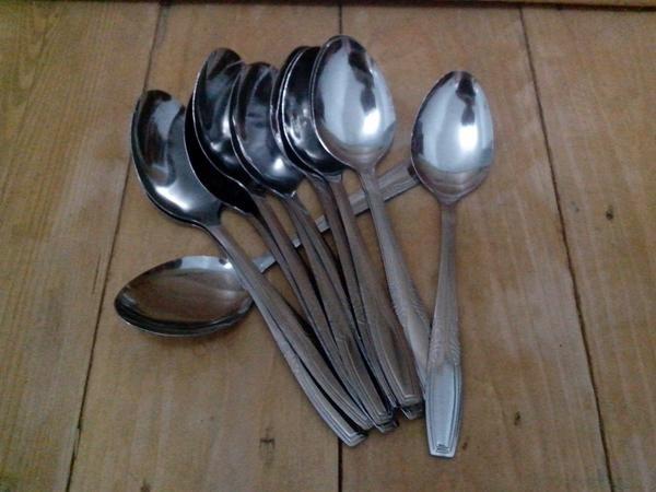 Sendok Makan Nasi Stainless Rice Spoon Souvenir Alat Dapur Kitchen Set Berkualitas DAN MURAH