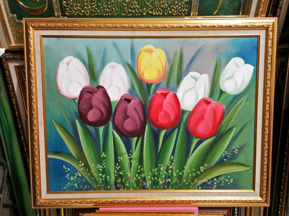 Sketsa Bunga Contoh Lukisan Bunga Tulip