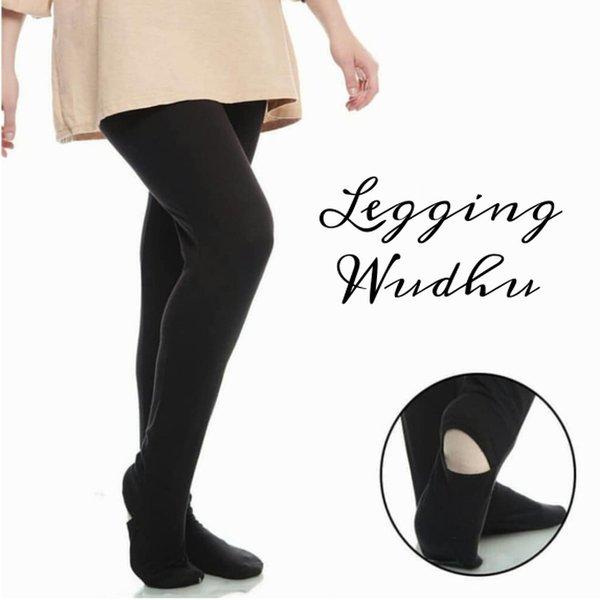 Big size legging wudhu muslimah bahan kaos rayon spandek