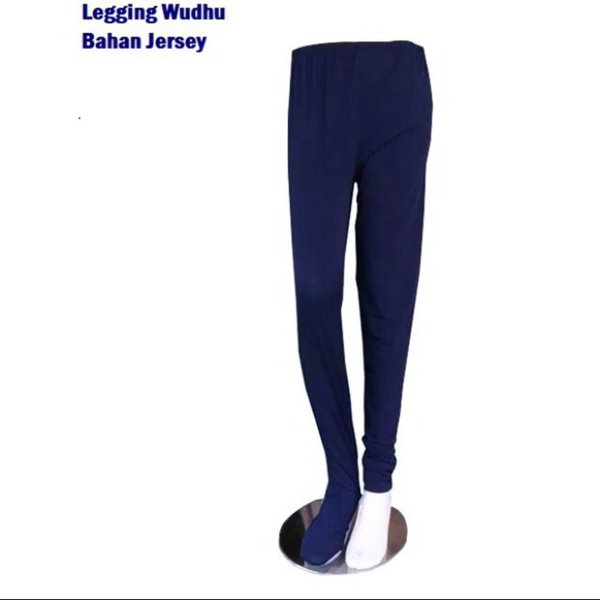 legging wudhu bahan jersey import korea