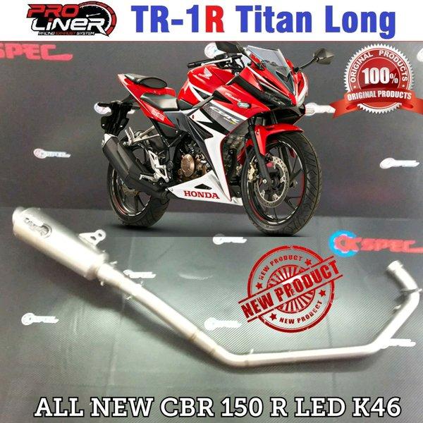 PRO LINER TR-1 TITAN for HONDA All New CBR 150 R 2016 K46. Tabung Besar. (Full System)