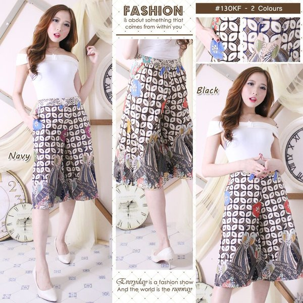 Celana kulot pendek - Kulot Batik
