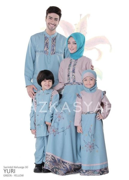 Baju Muslim Couple - Azkasyah SK 30 Yuri - Couple Family Original
