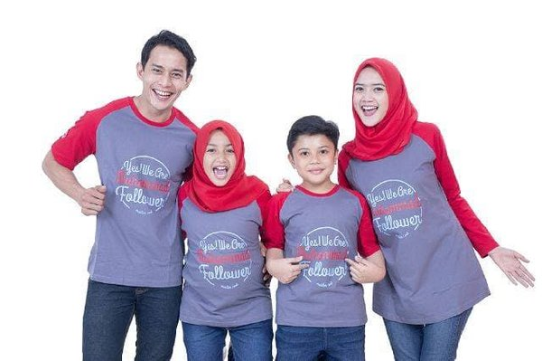 new Baju Muslim Couple Keluarga Kaos Muslim Best Seller