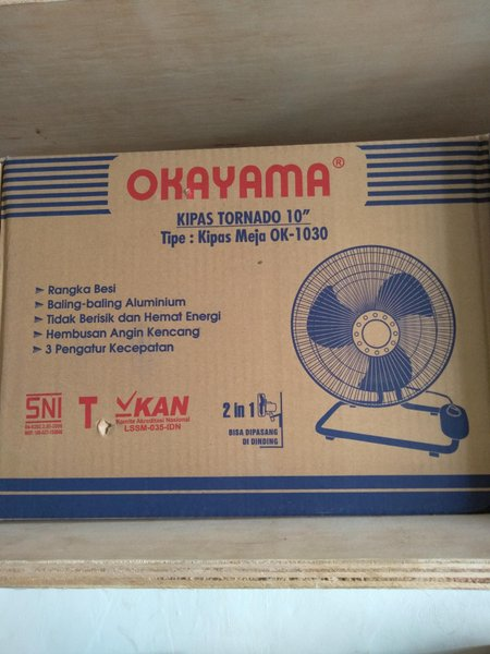 kipas angin merk Okayama