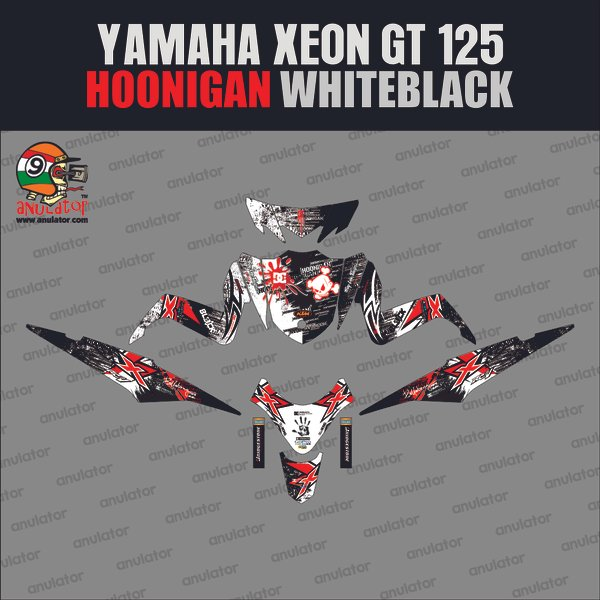 Sticker Striping Motor Stiker Yamaha Xeon Gt 125 Eagle Eyes Hoonigan Spec B