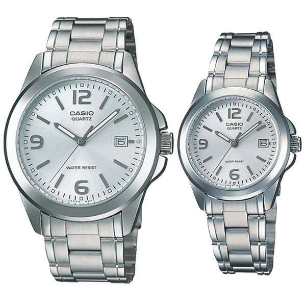 Jam Tangan Casio Couple Rantai Casio Original MTP LTP 1215A-7A