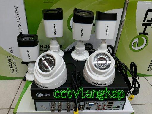 PAKET CCTV 8CH VISION PRO 1.3MP 720P HIBRID KUALITAS JERNIH