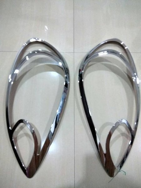 New garnish garnis list chrome lampu depan belakang honda brio merk J