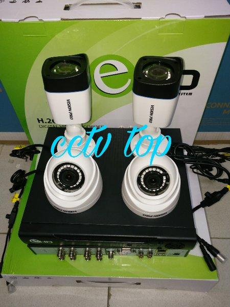 PAKET CCTV VISION PRO 4 CxxNEL 1.3 MEGA PIXEL MURAH DAN BAGUS GAN