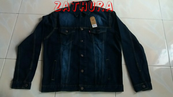 original jaket jeans levis made in usa dongker scrap