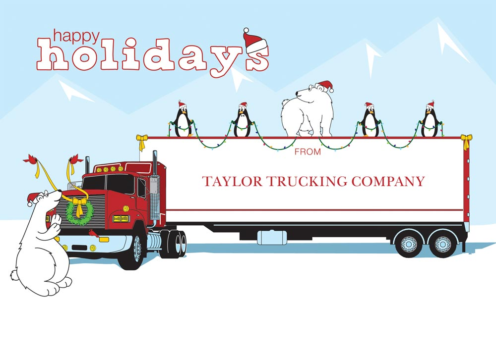 Ready For Christmas Trucking Card Trucking From Brookhollow