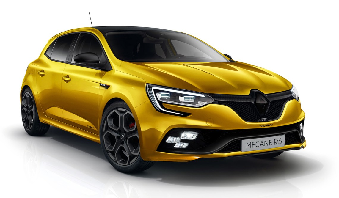 2018 renault megane rs masterfully rendered, production model on the