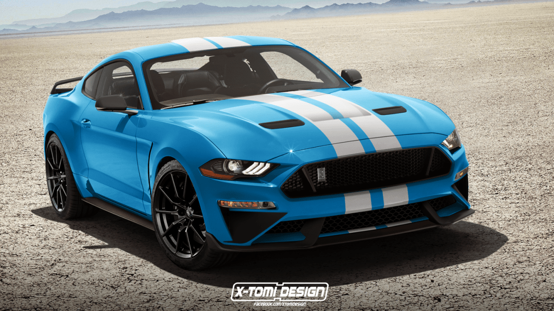 2018 shelby gt350 mustang rendered with facelift that won't happen